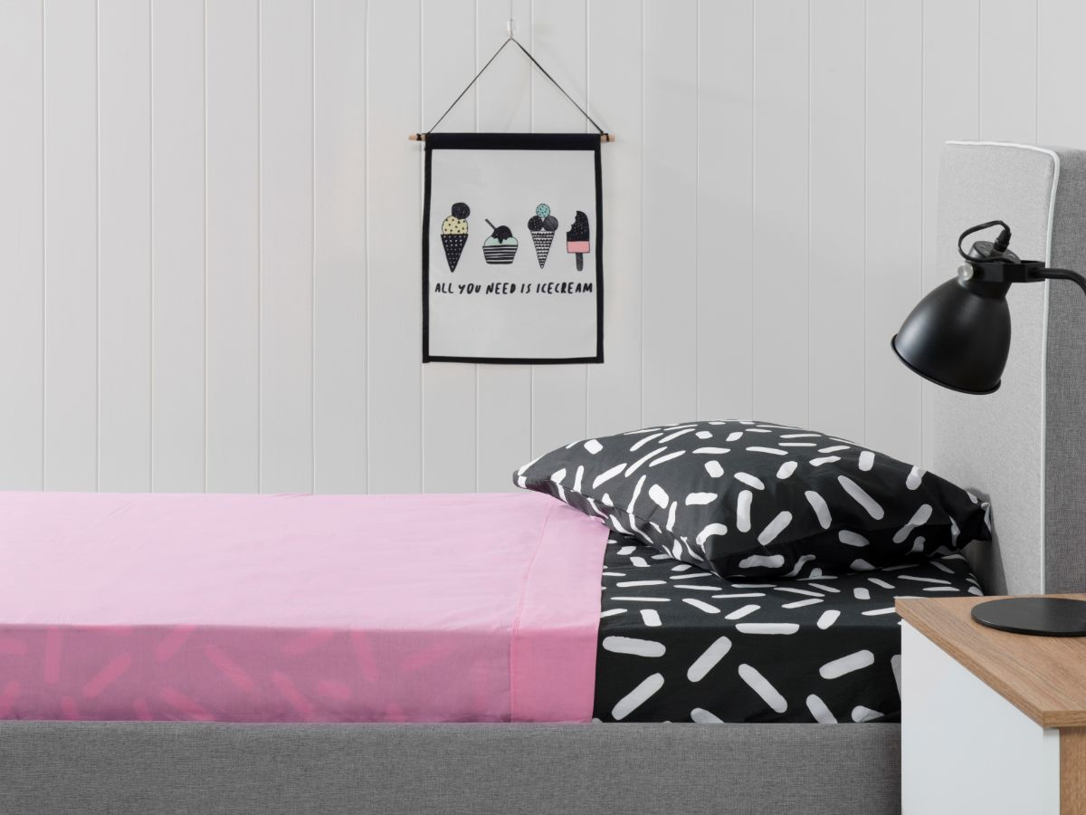 Pink and Sprinkles Sheet Set