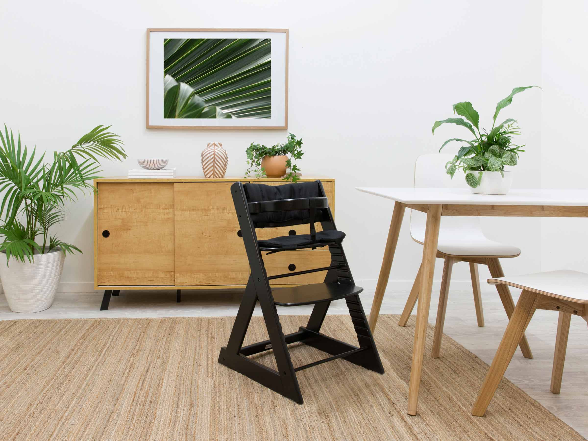Soho Wooden Highchair - Black
