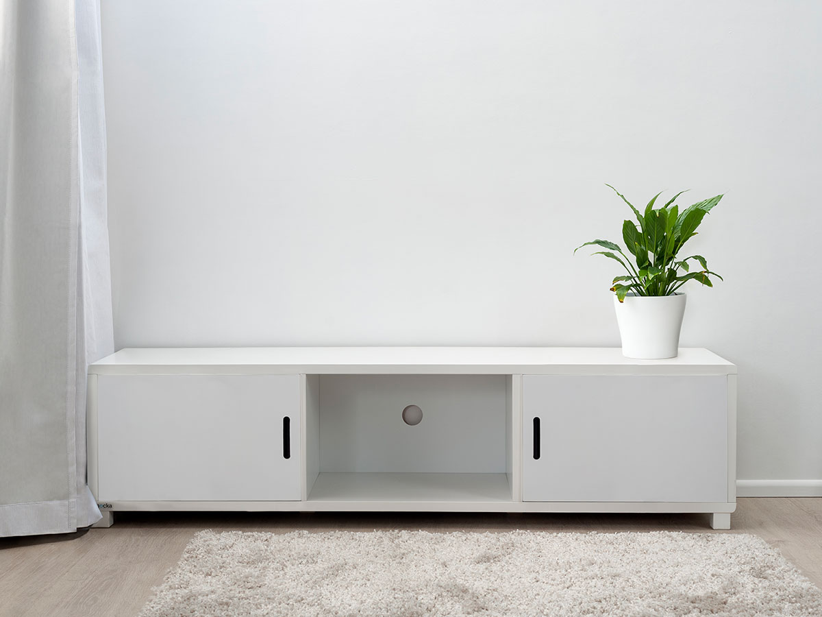 Mocka Essentials Entertainment Unit - White Doors