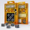 Q-Workshop - Steampunk Metal Dice - Set of 5 D6 Dice - Silver Metallic