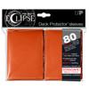 Ultra Pro ECLIPSE PRO-Matte Deck Protector - Standard Size Non-Glare Card Sleeves - 80 Count - ORANGE
