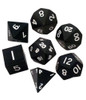 Metallic Dice Games - 16mm Polyhedral Dice  (Set of 7) - Black