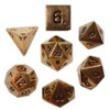Norse Foundry - Dead Man's Gold - 16-22mm RPG Polyhedral Dice  (Set of 7)