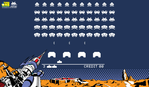 Turn One Gaming - Playmat - Space Invaders Retro Edition