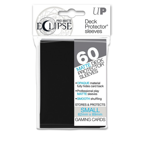 Ultra Pro ECLIPSE PRO-Matte Deck Protector - Small Size Non-Glare Card Sleeves - 80 Count - BLACK