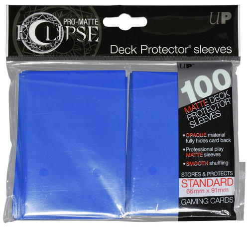 Ultra Pro ECLIPSE 2.0 PRO-Matte Deck Protector - Std Size Non-Glare Card Sleeves - 100 Count - PACIFIC BLUE