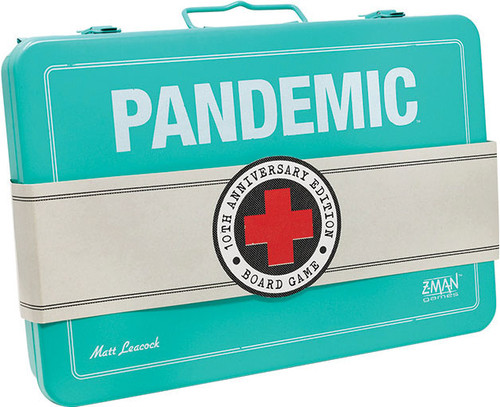Pandemic - 10th  Anniversary  LIMITED EDITION - The Co-Operative Board Game - Z-Man Games