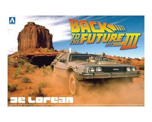 Back to the Future Part 3 - 1:24 Delorean Scale Model Kit - Aoshima Models