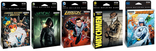 DC Comics Deck Building Game Combo - Expansions - Crossover Packs 1 - 5!