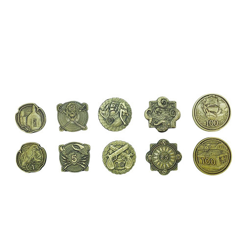 "Norse Foundry - Adventure Coins - Variety Pack  (Set of 10) ""Pirate Gold"""
