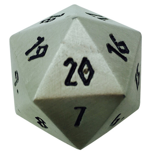 Norse Foundry - Aged Mithral - 1 x 25mm D20 Countdown Dice