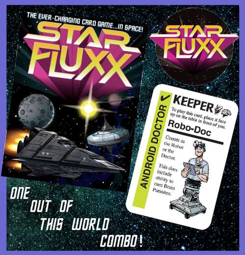 Star Fluxx Combo Pack! The Card Game + Promo Card 'Robo Doc'