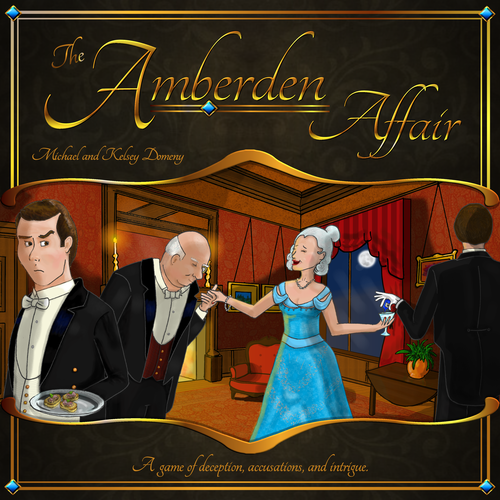 The Amberden Affair - A Real Time Murder Mystery Board Game - Two Penny Games