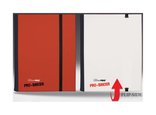 Ultra Pro - 4-Pocket Pro Binder - Reversible - Holds 160 cards - Red & White