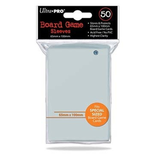 Ultra Pro Deck Protector  - SPECIAL Size 65mm x 100mm Board Game Card Sleeves - 50 Count - CLEAR - 7 WONDERS