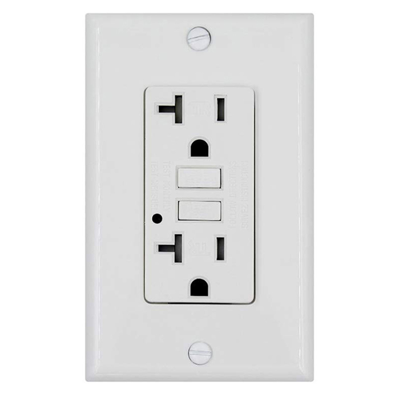 TEKLECTRIC Tamper Resistant 20A 125V Electrical Outlet Receptacle w// Wall Plate