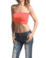 Tube Top Bandeau - Dusty Coral