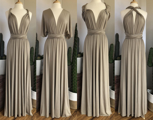 Maxi Convertible Dress - Champagne