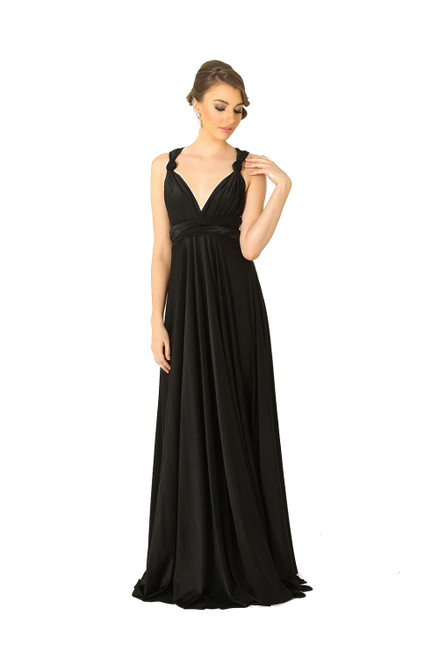 Maxi Convertible Dress - Black