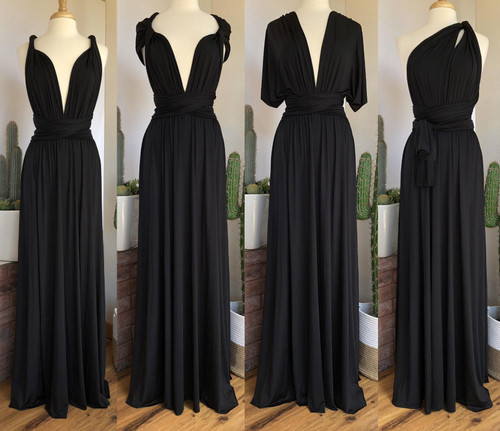 Maxi Convertible Dress - Black