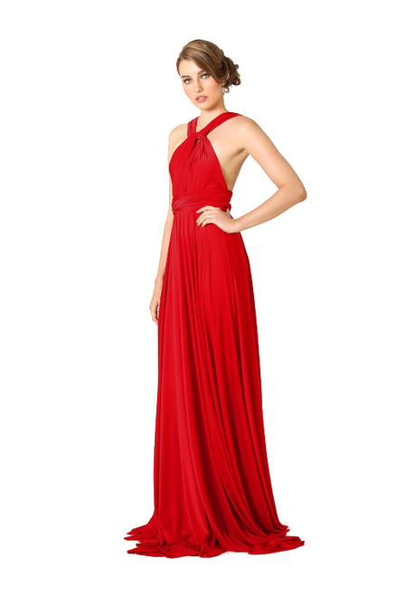 Maxi Convertible Dress - Red