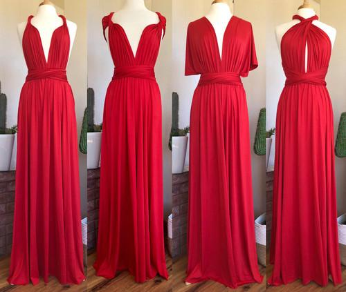 Maxi Convertible Dress - Red