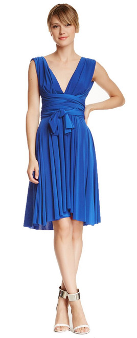 Short Convertible Dress - Dazzling Blue