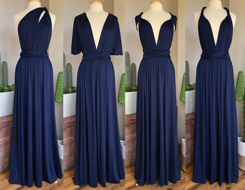 Maxi Convertible Dress - Navy