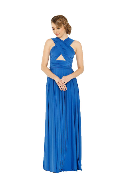 Maxi Convertible Dress - Dazzling Blue