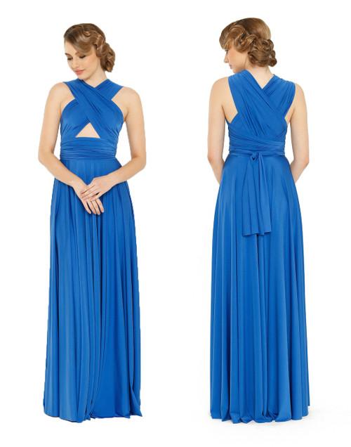 Maxi Convertible Dress - Dazzling Blue