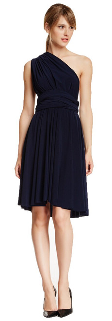 Short Convertible Dress - Navy