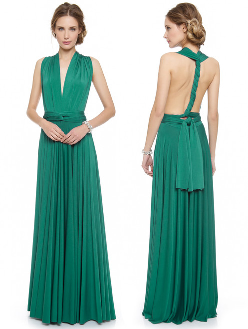 Maxi Convertible Dress - Emerald