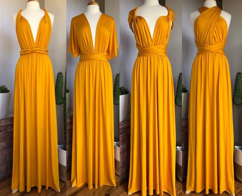 Maxi Convertible Dress - Mustard