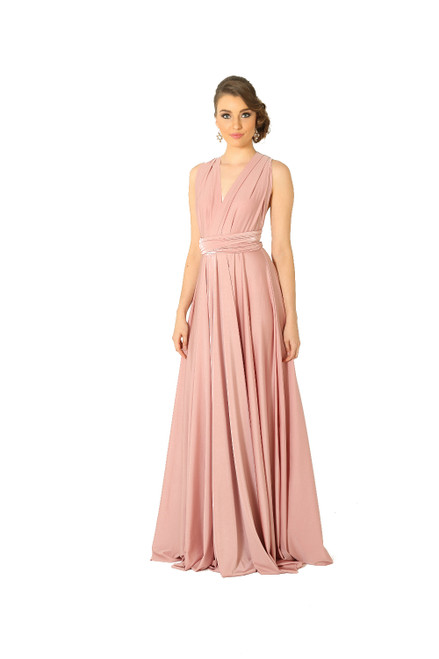 Maxi Convertible Dress - Blush