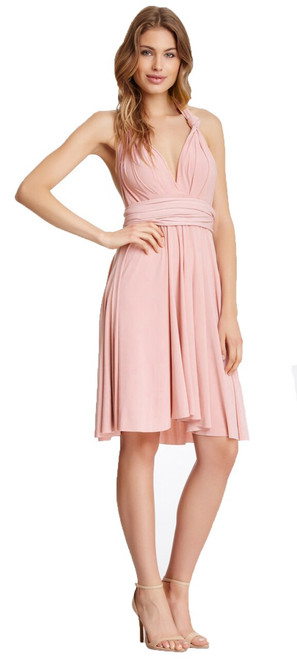 Short Convertible Dress - Blush