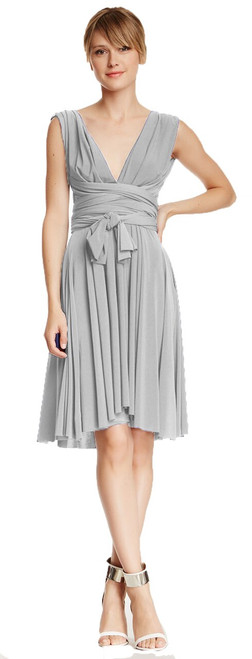 Short Convertible Dress - Pewter
