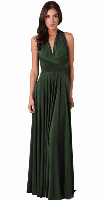 Maxi Convertible Dress - Forest Green