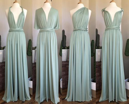 Maxi Convertible Dress - Sage