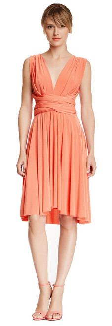 Short Convertible Dress - Blushing Coral