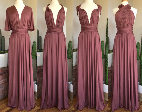Maxi Convertible Dress - Mauve