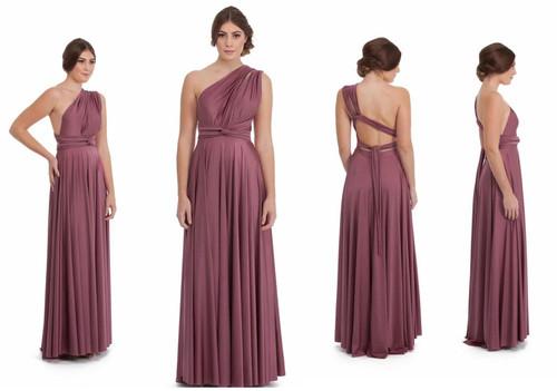 Maxi Convertible Dress - Mauve