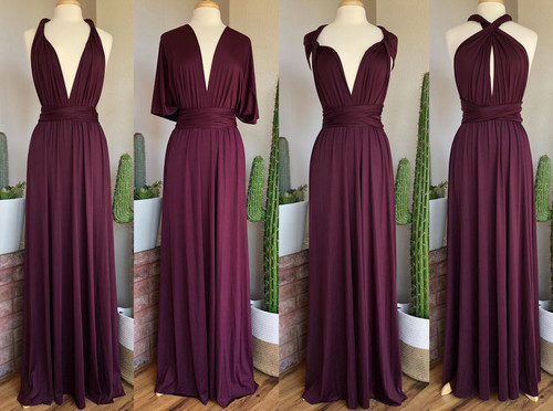 Maxi Convertible Dress - Dark Plum