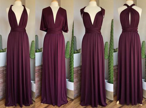 Maxi Convertible Dress - Dark Plum