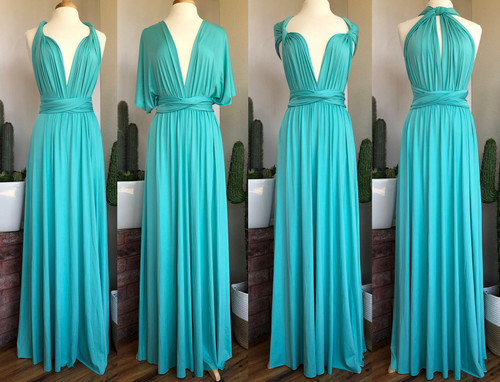 Maxi Convertible Dress - Tiffany Blue