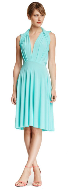 Short Convertible Dress - Tiffany Blue