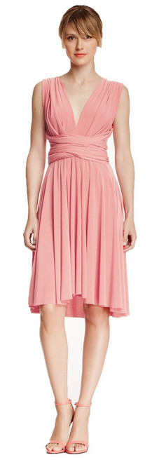 Short Convertible Dress - Bridal Pink