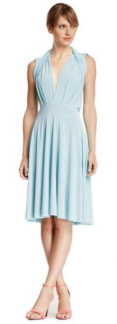 Short Convertible Dress - Baby Blue