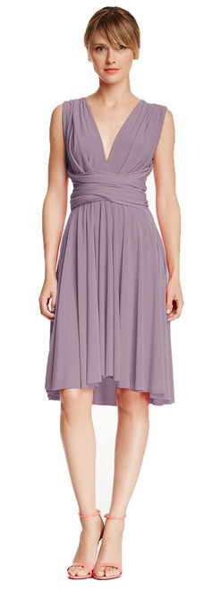 Short Convertible Dress - Purple Rose