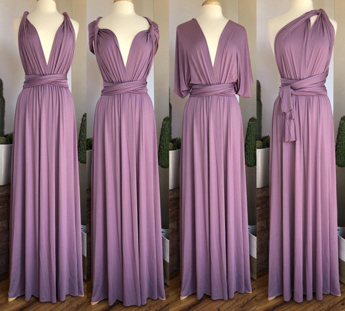 Maxi Convertible Dress - Purple Rose