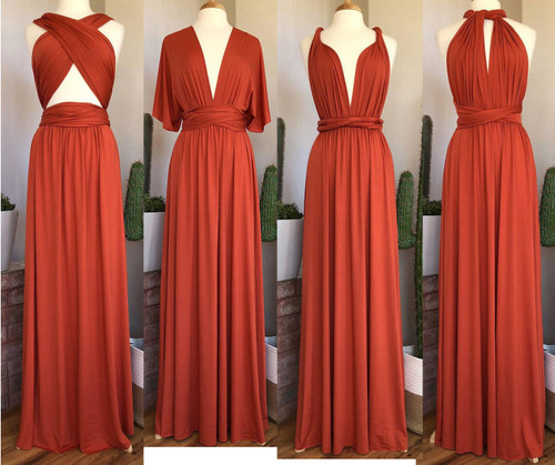 Maxi Convertible Dress - Rust